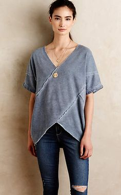 Fleeced Cross-Front Pullover #anthroregistry