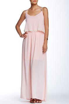 Peach Love Cream California | Crochet Trim Popover Maxi Dress | Nordstrom Rack  Sponsored by Nordstrom Rack.