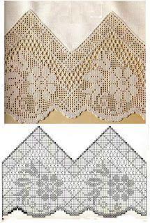 Szydełkomania: Bordiury ~ loads of free pattern charts for edges and borders (crochet):