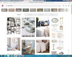 Zara home is een onderneming die zeer uitgebreid gebruik maakt van pinterest, ze uploaden al hun collecties, plus geven vaak tips over hoe je hun meubels kan combineren in je eigen woonomgeving