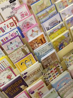 Some of the birthday cards available at Memory Lane in Titchfield
