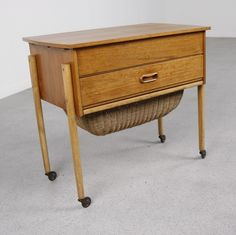 Danish sewing table from the fifties