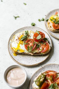 Tomato Breakfast Toast with spicy sauce   thealmondeater.com