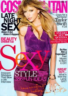 Taylor Swift Covers Cosmopolitan Magazine December 2012