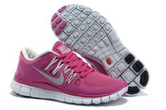 Nike Free 5.0 Pink White Womens Running Shoes      #fashion #sneakers
