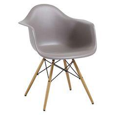 BuyVitra Eames DAW 43cm Armchair, Mauve Grey / Light Wood Online at johnlewis.com