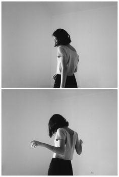 Black and white photography // The Happiest of Sad Songs // b&w, movement, film stills, film, photo, snapshot, girl, simple, pretty, cute, feminine