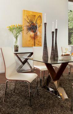 Lyfestile #Loft #Comedor (Mesa Atenas / Silla Madrid / Mesa lateral 44314)