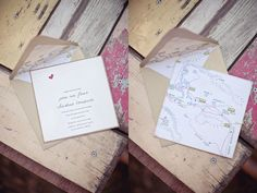 Perfect invitation, another idea for a hiker wedding