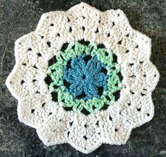 Best Free Crochet » #148 Forget-Me-Not Crochet Dishcloth – Maggie Weldon Maggies Crochet