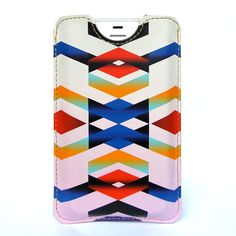 Leather iPhone 4 case / iPhone 4S Case - Chevron Navajo inspired design