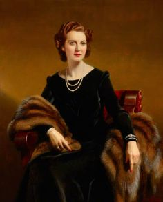 Eva Mary 'Eve' Dickson (1907–1994), Lady Price by Frank O. Salisbury    Date painted: 1946 Oil on canvas, 123 x 99 cm Collection: National Trust  National Trust, Wakehurst Place Ardingly, Haywards Heath, West Sussex, England, RH17 6TN