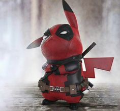 There's a whole new legendary pokemon in town!  This epic (and adorable) Pikachu x Deadpool mashup art was created by Ramtraz, and is so awesome that even Ryan Reynolds liked it.  See Marvel's Wade Wilson (The Merc With The Mouth), in a whole new way... as a cute, furry rodent who spits lightning.  You'll need a Master Ball to catch him, in Pokemon Go :)