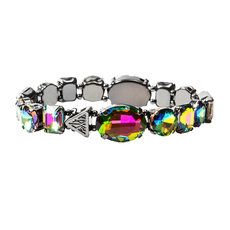 Katy Perry Hematite Iridescent Crystal Gems Stretch Bracelet