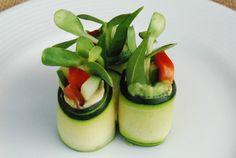 raw zucchini rolls