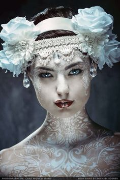 Modern Fairytale fashion fantasy / karen cox. ♔ once upon a time. #snow queen