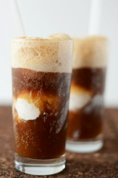 Vodka Root Beer Floats and Coconut Ice Cream