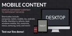 Discount Deals Mobile Content - Mobile Detection WordPress Plugintoday price drop and special promotion. Get The best buy