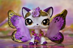 Littlest Pet Store Cute, Quick Hair, kitty Butterfly Cat Ooak Customized - Lps Littlest Pet Shop, Little Pet Shop Toys, Little Pets, Custom Lps, Pets Movie, Lps Cats, Easy Pets, Doll Repaint, Animal Crafts