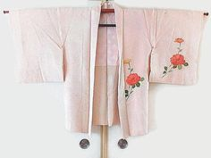 Vintage Japanese Kimono Jacket Light Pink Shibori Silk Haori