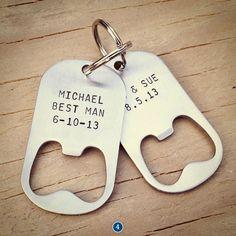 Groomsmen Gifts Ideas - bottle openers #bridalpartygiftideas #bridalpartyfavors