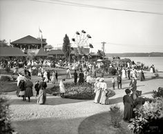 Kingston Point Park, Kingston, NY, 1906
