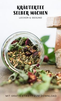 Erkältungstee selber machen Herbal tea, which helps with cough, runny nose and colds, is a natural h Homemade Wine, Mushroom And Onions, Eat Fruit, Wine Parties, Fermented Foods, Meatloaf Recipes, Natural Home Remedies, Tea Recipes, Eating Habits