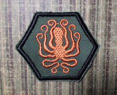 STEAMPUNK Merit Badge  Kraken Octopus Steampunk by TrippingBalls, $5.50