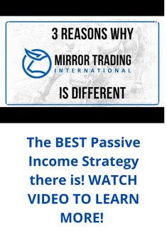 Mirror Trading International has the best passive income strategy out there. All you must do is register & deposit $100 from a cryto-wallet. After that you simply watch your money GROW! CLICK the link to register today! Online Typing, Digital Wallet, Bitcoin Transaction, Simple Life Hacks, Do Everything, Passive Income, Blockchain, Investing, Ads