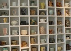 A spot of one's own! For fellow mug junkies.   via storage and glee.