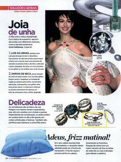 Um produto da Elo7 foi publicado na Revista Máxima, em matéria sobre anéis delicados.