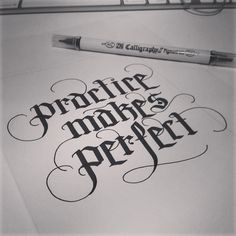 Practice Makes Perfect Calligraphy Hand Lettering