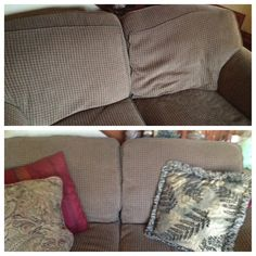 Dixie of all Trades: Breath new life into your old sofa.add more stuffing! Cushions To Make, Couch Cushions, Bed Pillows, Old Sofa, Household Organization, Home Hacks, Spring Cleaning, New Life, Home Decor Inspiration
