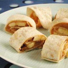 Peanut Butter-Banana Spirals | MyRecipes.com