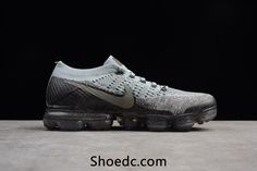 cce1836c12c Nike Air VaporMax 2018 Flyknit Gray Silver Women Men Sneakers For Sale