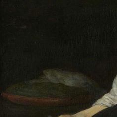 Zittende jonge vrouw in het kostuum van een boerenmeisje, Gerard ter Borch (II), ca. 1650 - ca. 1660 - Dagelijks leven (schilderijen) - Kunstwerken - Ontdek de collectie - Rijksmuseum