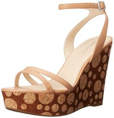 Nine West Women's Anadulo Leather Wedge Sandal >>> Unbelievable product right here! : Wedges Shoes
