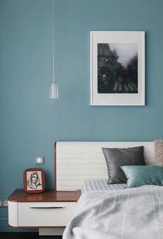 Quarto Azul: Guia Completo de Decoração + 70 Fotos Incríveis Home Bedroom, Bedroom Decor, Feng Shui, Bedroom Colors, Floating Nightstand, Sweet Home, Architecture, Design, Furniture