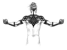 Tattoo Concept by croaky on DeviantArt Sith Tattoo, Norse Tattoo, Viking Tattoos, Arm Tattoo, Viking Tattoo Sleeve, Back Tattoos, Body Art Tattoos, Sleeve Tattoos, Tattoos For Guys