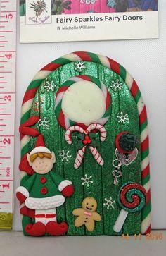 Christmas Fairy Door, Elf, Shelf, Door by Fairy Sparkles CD575