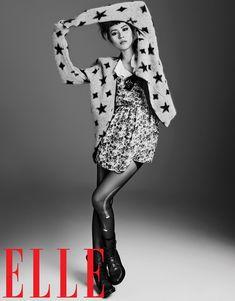 liu wen model14 Liu Wen Models Fall Looks for Elle Chinas September Issue