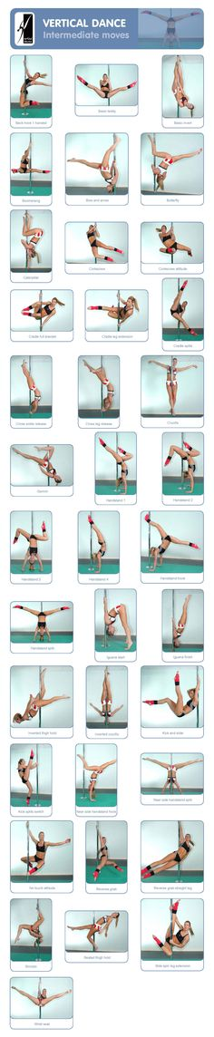 Intermediate pole tricks. Pole Fitness