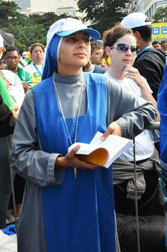 SSVM Sister at the Final Mass of the Holy Father on the Copacabana beach, World Youth Day, Rio 2013