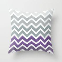 Purple Fade Chevron Zigzag Pattern Throw Pillow by RexLambo | Society6