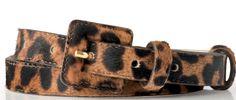 LK Bennett's calf hair belt in leopard