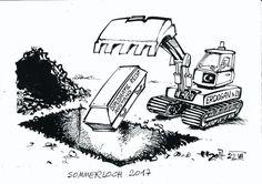 """OÖN-Karikatur vom 24. Juli 2017: """"Sommerloch 2017"""" Mehr Karikaturen auf: http://www.nachrichten.at/nachrichten/karikatur/ (Bild: Haitzinger)"""