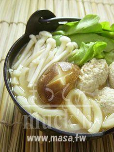 Japanese cuisine - chicken meatballs miso udon, New Year's dinner recipe