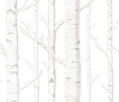 Birch Grove in Storybook fabric by sparrowsong on Spoonflower - custom fabric (removable wallpaper for renting!!!!!!!)