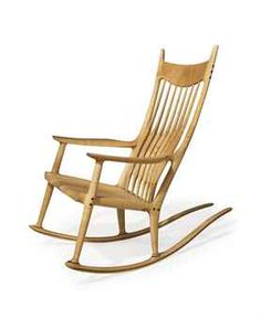 Sam Maloof, A Maple And Ebony Rocking Chair, 1991