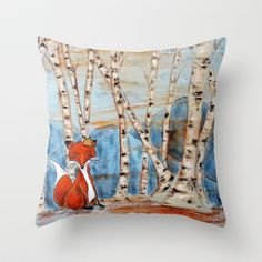 Prince of the Wood Throw Pillow by Allison Weeks Thomas - $20.00